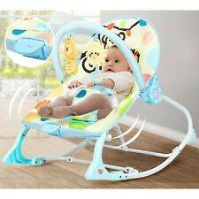 Baby Bouncer Bed Massager Rocking Chair With Toys, Adjustable Foldable Portable