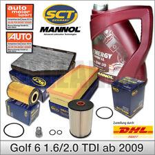 VW Golf 6 & Golf Plus 1.6 2.0 TDI ab 2009   Filtersatz Filterset + 5L 5W-30 Öl