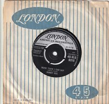 """BOBBY VEE..MORE THAN I CAN SAY..EXCELLENT 1960 LONDON POP / ROCK & ROLL 7""""..9316"""