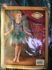 In Character Enchanted Faerie Fairy Costume Adult Women's S Small Teal  Wings
