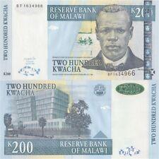 Malawi 2004 year 200  Kwacha BrandNew Banknots