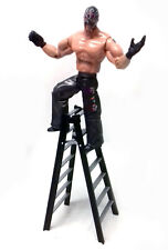 "WWF WWE Wrestling Black REY MYSTERIO 6"" toy action figure & LADDER accessory"