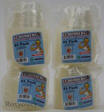 Ez-Bomber Shot Cups 4-25 pack Plastic 1 oz In 2.75 oz Out Cup Adult Party New
