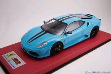 1/18 Looksmart MR Ferrari F430 Scuderia Baby Blue Black Stripe Leather  25 pcs