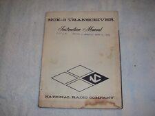 National NCX-3 Transceiver Instruction Manual