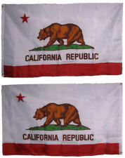 3x5 State of California résistant Polyester Nylon 200D double face drapeau