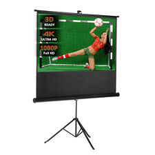 """Excelvan 100"""" Diagonal 16:9 1.1Gain Pull Up Projector Screen+Stable Stand Tripod"""