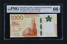 2018 Hong Kong China-Standard Chartered Bank 1000Dollars Pick#306a PMG 66EPQ UNC