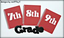 Craftecafe School Title paper piecing premade scrapbook page die cut Wolffey5