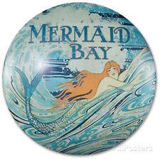 Mermaid Bay Dome Sign Tin Sign - 12x12