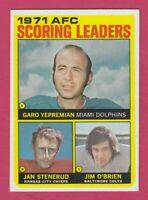1972 Topps # 7 Yepremian, Stenrud, O'Brien - Box 734-125