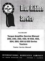 International Farmall 300 340 450 460 Utility Torque Amplifier Service Manual IH