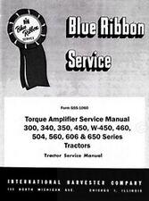 International Farmall 300 340 450 460 Utility Torque Amplifier Service Manual Ih