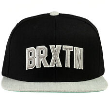 Brixton Hamilton Snapback Hat Mens 115-00299-0137 Black Grey Adjustable Cap