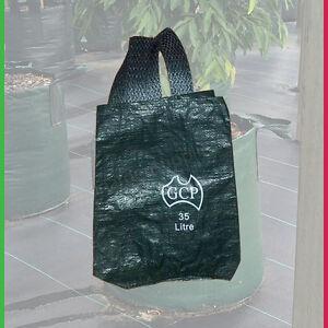 Woven Plant Bags 35 litre - Pk 2 planter bags with handles - Landscape Growbag