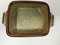"Stoneware Pottery Square Bowl 6.5"" X 5"" Earthenware Dish"