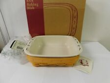Longaberger Classic Serving Solutions Basket & Square Pottery Baker Usa New
