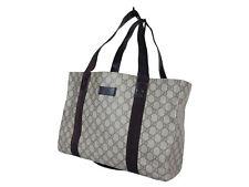 GUCCI GG Web PVC Canvas Leather Browns Should Bag GT1989