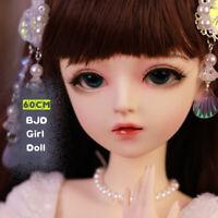 1/3 BJD Doll Puppen Girl Mädchen Weiblich + Gesicht Make-up + Augen + Kleidung