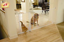 Carlson Maxi Pet Gate Small Door Safety Dog Cat Baby Adjustable Extra Wide Walk