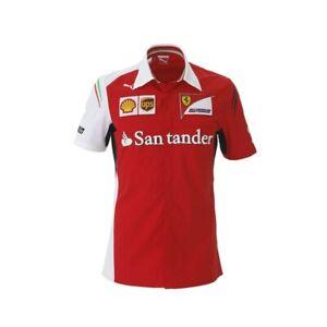 Puma Scuderia Ferrari F1 Formel 1 Team Shirt Herren Hemd 100% Baumwolle rot