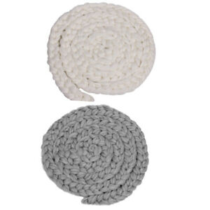 2pcs Baby Soft Photography Prop Wool Rope Backdrop Braided Child Blanket Rug