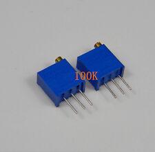 10pcs 100K Ohm 3296W-104 3296 W Trim Pot Trimmer Potentiometer 100K Ohm