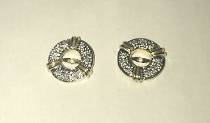 14k Gold and Diamond Earring Jackets-2.6g