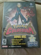 NEW SEALED Pokemon Colosseum Bonus Disc MINT NOT FOR RESALE Nintendo GameCube