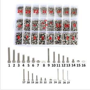 1080 Tlg Edelstahl Schrauben Muttern Sortiment Set Unterlegscheiben M2 M3 M4