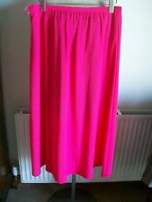 "Pink Lined Long Skirt, Size 14, Length 36"", M&S, Brand New with Tags"