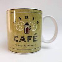 PARIS CAFE Coffee Mug Cup Sakura, Angela Staehling Stoneware, 9. Rue Fonteneau