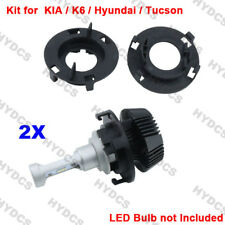 2x H7 HID Bulb Base Holder Socket Adapter For Hyundai KIA K6 Tucson Lavida 2015