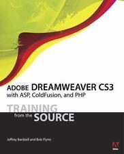 NEW Computer BOOK, CD Adobe DREAMWEAVER CS3 ASP COLDFUSION PHP Bardzell Flynn 08