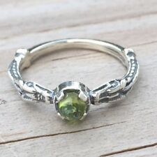 Celtic Dragon Ring .925 Sterling Silver sz 8 w/ Genuine Peridot gem