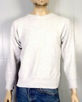 vtg 80s Hanes beefy Solid Blank Heather Gray Reverse Weave Sweatshirt rare S/M