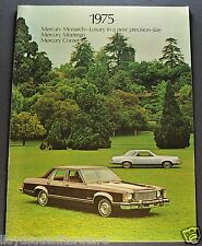 1975 Mercury Comet Montego Monarch Brochure Ghia MX GT Excellent Original 75