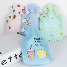Kids Cute Mini Hot Water Bottles Water Injection Bag Cartoon Warm Storage FC