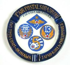 Vintage Us Army Air Forces Far East 1st Air Postal Squadron Ashtray 7 inch