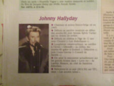 JOHNNY HALLYDAY : CHANTEUR ET ACTEUR FRANCO-BELGE - 03/03/2000 -