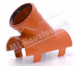 AIRFIT Klebe-Clips-Abzweig 45 Grad DN 110 x 90  aus PVC-U