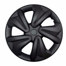 """4x Radkappen Carbon BLACK 16"""" Zoll Auto Radzierblenden Schwarz BMW AUDI VW"""
