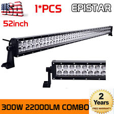 "300W 52"" LED S/F Combo Light Bar for JEEP Ram GMC Offroad Truck Car Boat 50""288W"