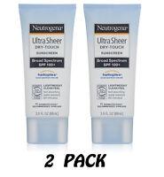 Neutrogena Ultra Sheer Dry-Touch Sunscreen SPF 100 3oz UVA UVB Helioplex 2-PACK