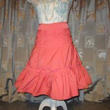 Karen Millen Coral / Pale Orange Taffeta Skirt Net Lining UK 10