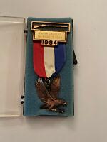 1984 Virginia Cavalry Civil War Reenactment Musket Medal Confederate Union