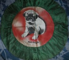 Vintage / Antique hand painted pug puppy pillow cover