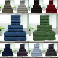 8 Pc Luxury Towel Set 100% Premium Cotton Bath Towels, Hand towel & wash cloth!