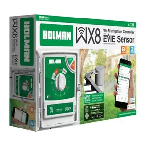 Holman WX8 Smart Wi-Fi Irrigation Controller With EVIE Sensor, Control Via Smart