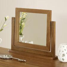 Rustic Oak Vanity Mirror - Pivot Swivel Small Adjustable Dressing Table - RS34